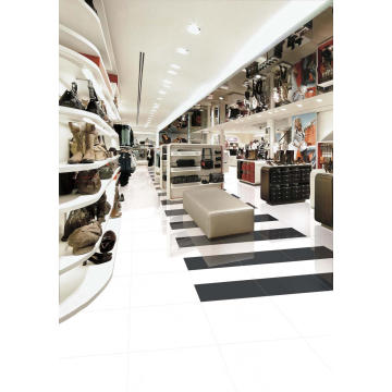 Super White Glossy Porcelain Floor Tile