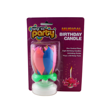 Singing Music Magic Colorful Rotating Birthday Cake Vela