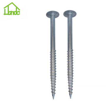 Galvanized earth ground screws