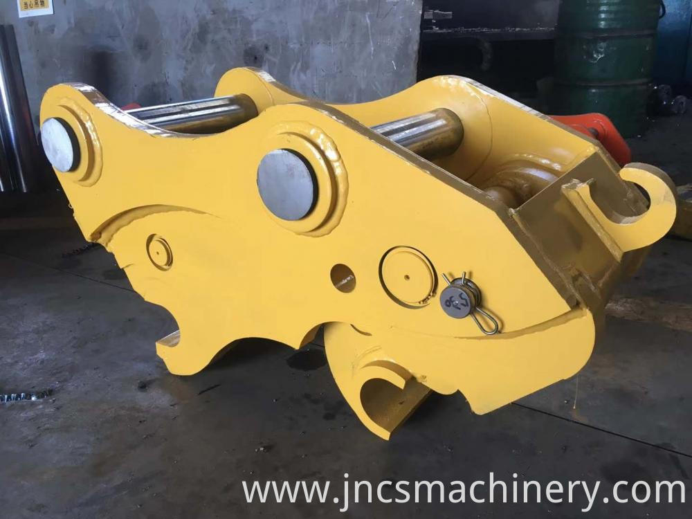 excavator attachment quick coupler