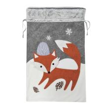Christmas sack with winter woodland style