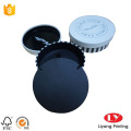 Round jewelry packaging box with leather insert