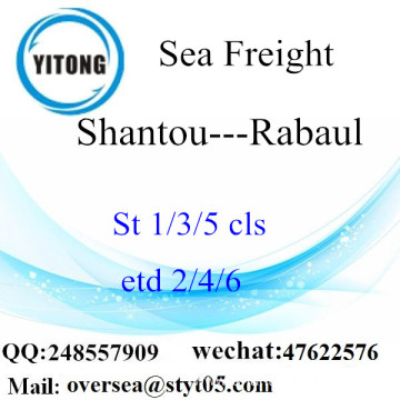 Shantou Port LCL Consolidation To Rabaul