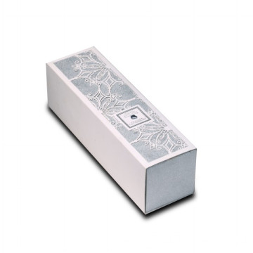 Silver Glitter Candle Box with Laser Pattern