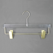 Custom acrylic pants hangers display hangers with clips