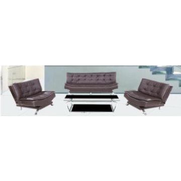 Office Sofa with  Silver Metal Legs