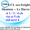 Consolidation Sea Shipment from Shantou to Le Havre