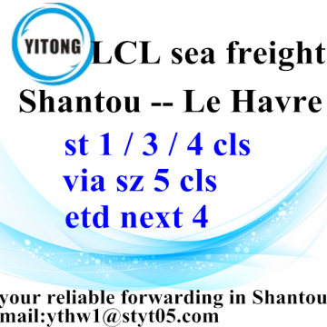 Good Quality for LCL Transport Consolidation Sea Shipment from Shantou to Le Havre supply to Indonesia Factory