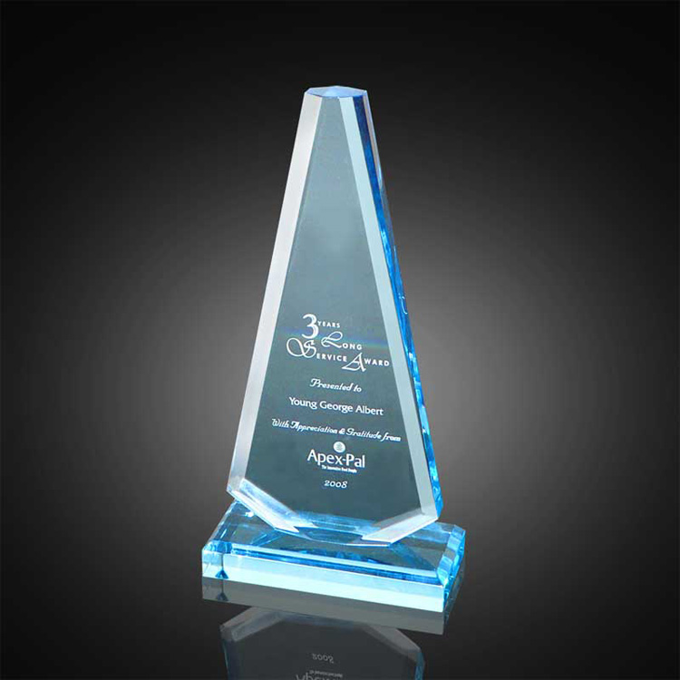 Cheap Acrylic Blue Award Fot Football