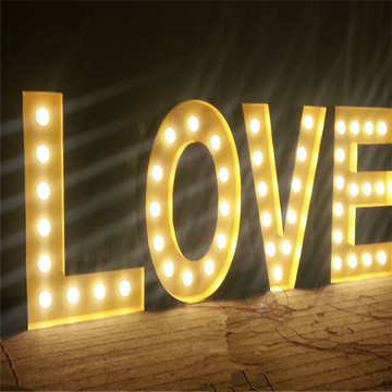 Large Vintage Style LED Lights Marquee Letters