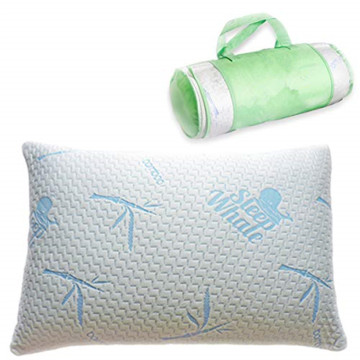 Shredded Memory Foam Bed Pillow With Bamboo Covers