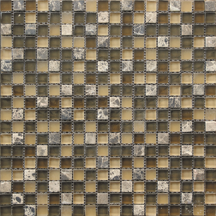 Small Chip Stone Glass Mixed Mosaic Tile