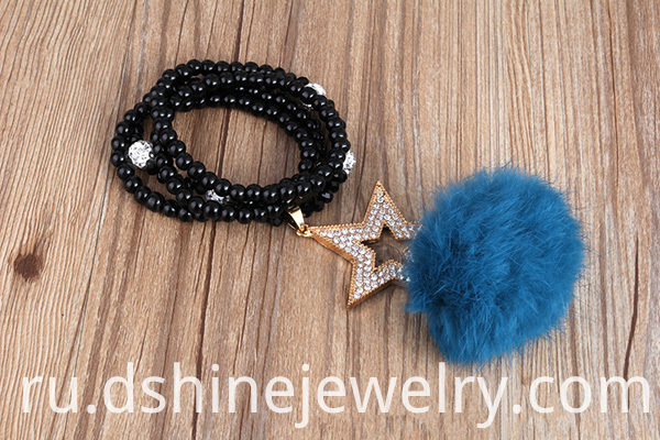 Shamballa Beaded Necklace