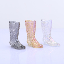 Colorful Ion Plating Boot Glass Decoration