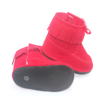 Rubber Sole Baby Winter Moccasins Boots