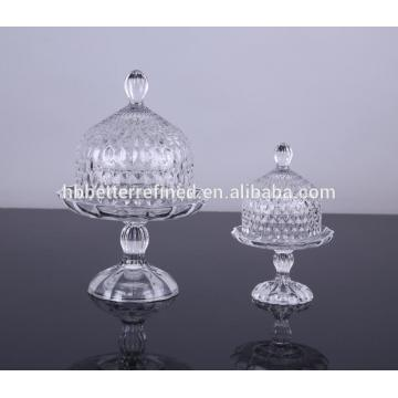 Best Quality for Glass Cake Stand Wholesale Glass Cake Plate With Glass Dome supply to Saint Vincent and the Grenadines Manufacturers