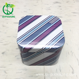 Square metal watch gift tin box