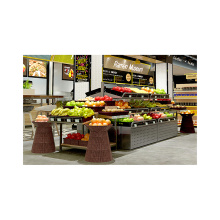 Double Sided Fruit And Vegetable Display Rack