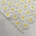 Two Tone Milky Yarn Chemical Lace Embroidery Fabric