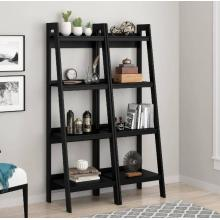 Europe style for Wooden Bookcase Buy Popular Black 4 Ladder Modern Bookshelf Online supply to Poland Supplier