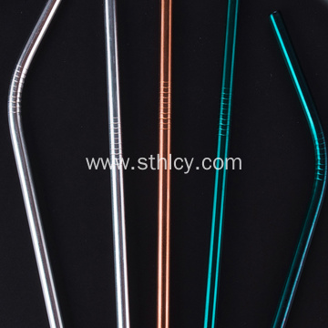 Stainless Steel Rainbow Colored Metal Straws
