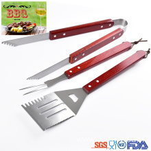 Good Quality for Barbecue Tools Set 3 pcs set wooden handle bbq utensils supply to Italy Suppliers