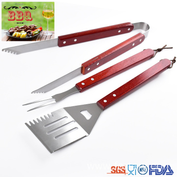 ODM for Bbq Tools Set,Barbecue Utensils Set,Bbq Utensils Set Manufacturers and Suppliers in China 3 pcs set wooden handle bbq utensils supply to South Korea Suppliers