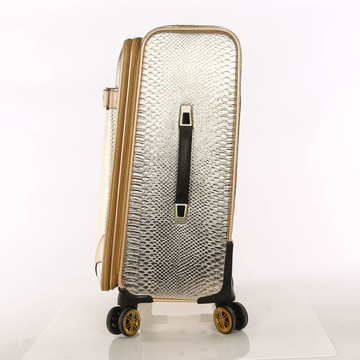 personalized Lightweight waterproof PU travel luggage