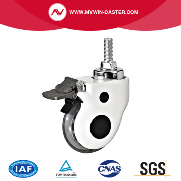 Threaded Stem Braked TPR Medical Casters