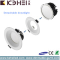 12W 4 Inch Dimmable Downlight White Black Silver