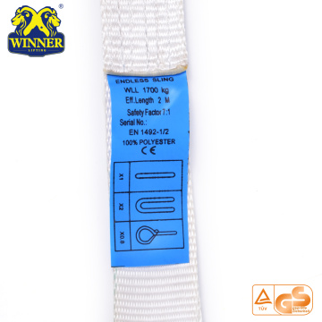 Specification EN1492 Polyester Round Lifting Webbing Sling