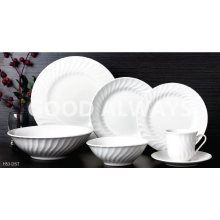 Porcelain embossed tableware set