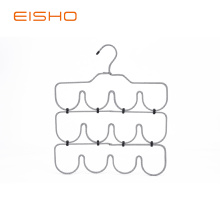 Hot Selling for Fabric Covered Coat Hangers EISHO M Design Foldable Metal Scarf Hanger supply to Indonesia Exporter