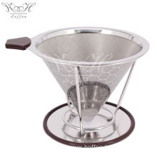 China for Pour Over Coffee Filter Paperless Stainless Steel Coffee Filter Reusable supply to Indonesia Supplier