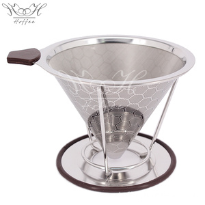 New Arrival China for Clever Coffee Dripper Paperless Stainless Steel Coffee Filter Reusable export to India Supplier