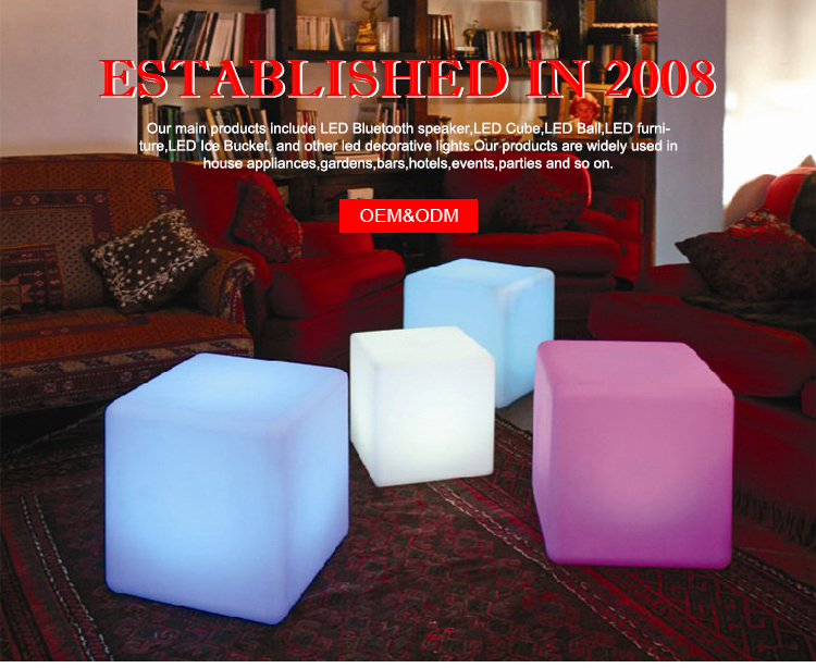 LED Cube Color Changing Bluetooth Speaker