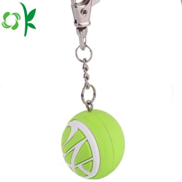 Customized Colors Golf Ball Silicone Keychains