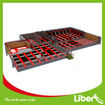 Big indoor commercial elastic indoor trampoline park