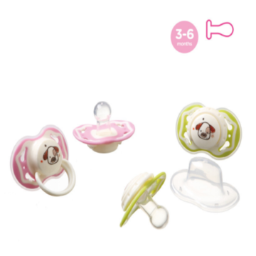 Safety Round Dual Color Baby Silicone Pacifier