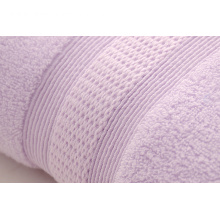 Thick Orchid Bath Towels Made of Long-Staple Yarn