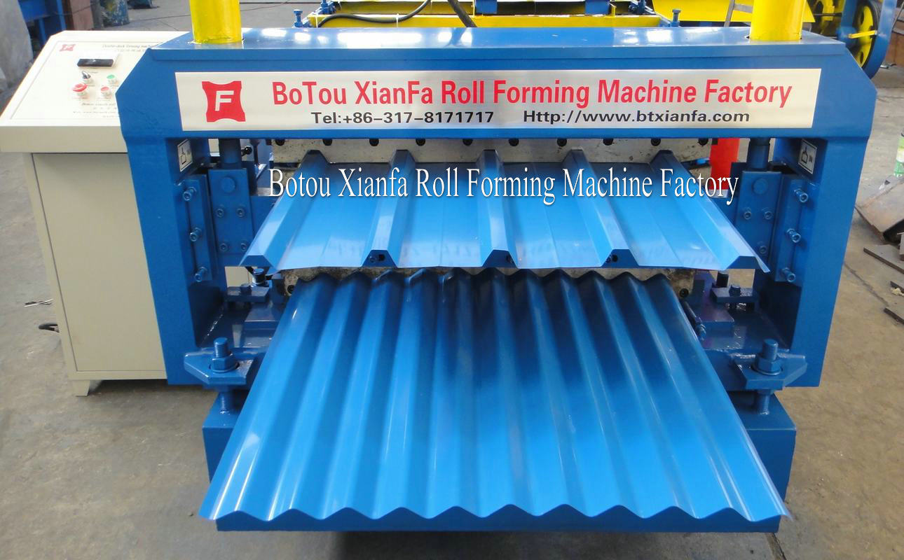 hydraulic metal roof forming machine