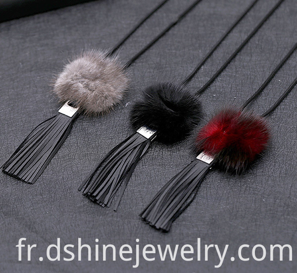 Tassel Fur Necklace