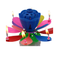 2019 Fancy Flower music fireworks birthday candle