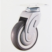 Plastic swivel top plate medical caster wheels