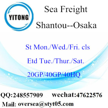 Shantou Port Sea Freight Shipping To Osaka