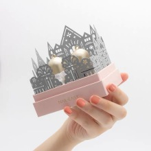 Pink And Grey Cosmetic Paper Box