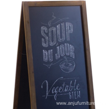 Large Wooden A-Frame Chalk Board