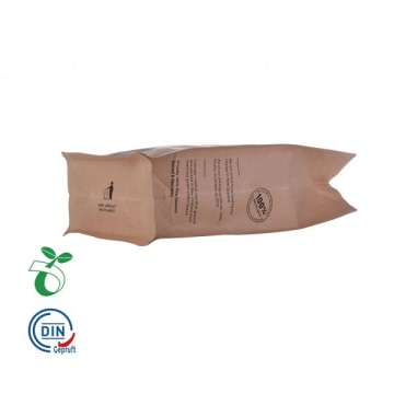 Recycable Flat Bottom Pouch Biodegradable Kraft Paper Bag
