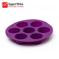 Round Cup Silicone Pudding Baking Muffin Cake Pan