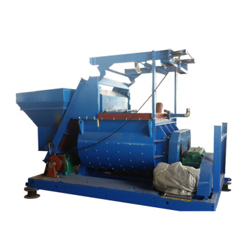 Self loading double shaft 750l concrete mixer machine
